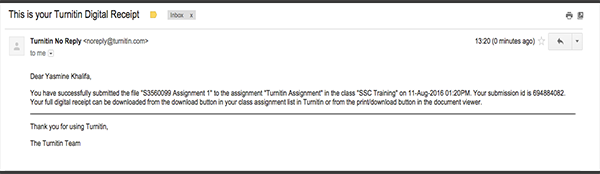How to submit a Turnitin assignment in blackboard - myCommunity