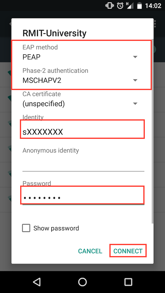 Connect To The Rmit University Wifi Using Android Mycommunity